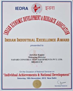 Manufacturing Award in New Delhi