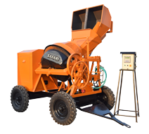 CONCRETE MIXER WITH DIGITAL WEIGHING SYSTEM