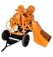 WINCH CONCRETE MIXER