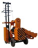 CONCRETE MIXER WITH LIFT WITH HOPPER